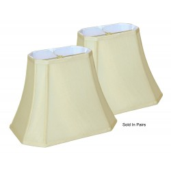"Silk Soft Back Shades Cream (5""x8"") x (10""x14"") x 11""- Price is per Pair"