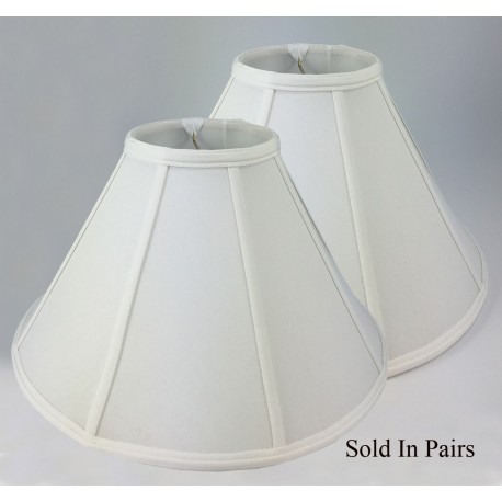 Empire White Silk Lamp Shade - Price is for a Pair