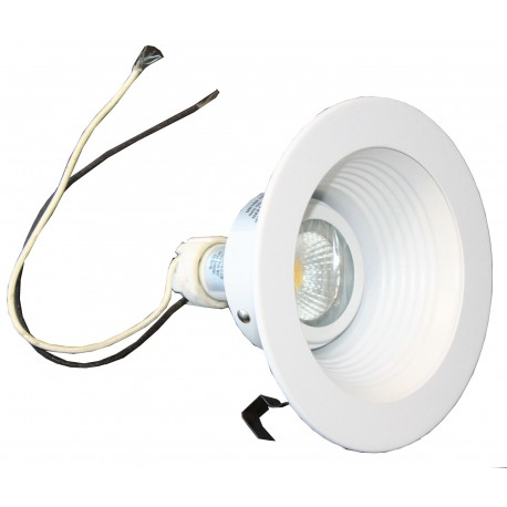 """5"""" Dia. Recessed Can Light Trim with LED Bulb and Socket - White"""