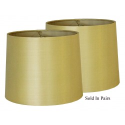 Hard Back Tan Silk Lamp Shades - Prices are for Pairs