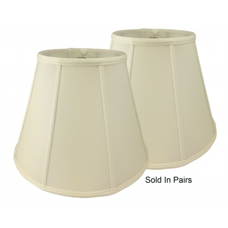 Soft Back Empire Lamp Shades - Price is for a Pair - Bone Color