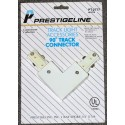Track Lighting L Connector - Prestigeline - White