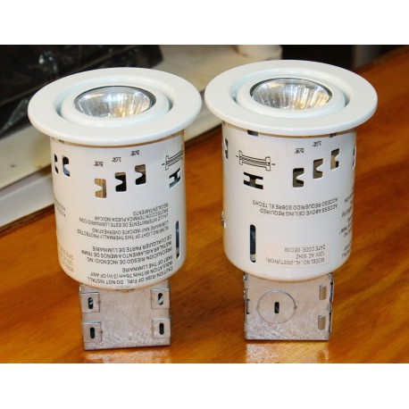"""Recessed Ceiling Mount Lights 3"""" Dia. - White - Twin Pack"""