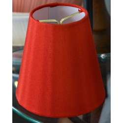 "Clip On Red Silk Shades 3"" x 5"" x 5"" Set of 3"