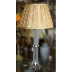 Clear and Frosted Acrylic with glass base table lampClear and Frosted Acrylic with glass base table lamp