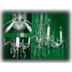 Crystal Chandeliers 6 light Swarovski teardrops