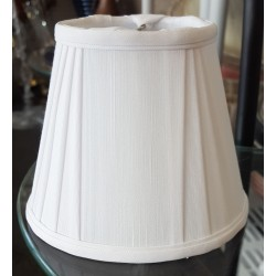 """3"""" x 5"""" x 4"""" Clip on White Pleated Silk Shade - Set of 6"""