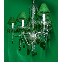 Crystal Chandeliers Green Tear Beaded Green Shades Drops