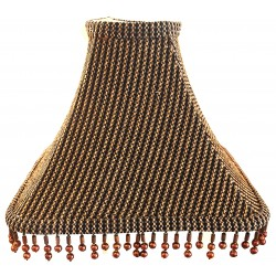 """Soft Back Brown/Black Shade w/ Copper Color Beads - 4"""" x (11""""x11"""") x 8 1/4"""""""
