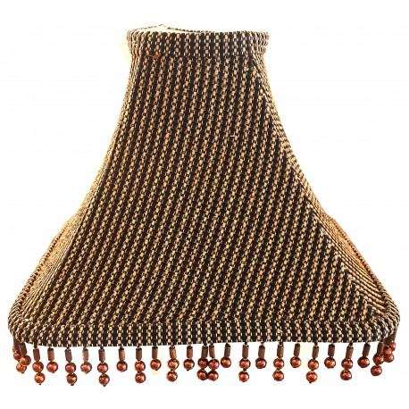 "Soft Back Brown/Black Shade w/ Copper Color Beads - 4"" x (11""x11"") x 8 1/4"""