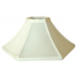 "Soft Back Bone Color Lamp Shade - 3 1/2"" x 10 3/4"" x 6 1/4"""
