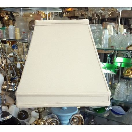 "Beige Silk Soft Back Lamp Shade (7"" x 7"") x (13"" x 13"") x 12"""