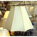 "Soft Back 8 Panel Silk Lamp Shade 7"" x 17"" x 12"" - Cream Color"