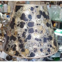 "Shiny Foil and Matte Black Parchment Shade - 6"" x 12"" x 9"""