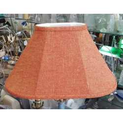 "Red / Yellow Burlap Soft Back Lamp Shade - (4 1/2"" x 7"") x (10"" x 16 1/2"") x 9"""