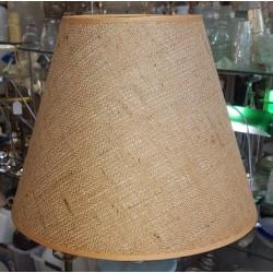 "Brown Burlap Hard Back Lamp Shade 7"" x 14"" x 11"""
