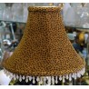 "Soft Back Animal Print Shade with Hanging Acrylic Beads - 4"" x 11"" x 8 3/4"""