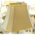 "Silk Soft Back Tan Shade with Ornate Trim (5""x8"") x (10""x14"") x 11"""
