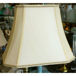 "Silk Soft Back Beige Shade with Trim (5""x8"") x (10""x14"") x 11"""