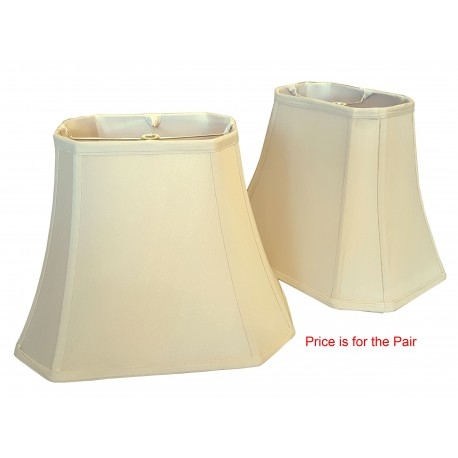 "Silk Soft Back Beige w/Beige Inside (5""x8"") x (10""x14"") x 11""- Price is per Pair"