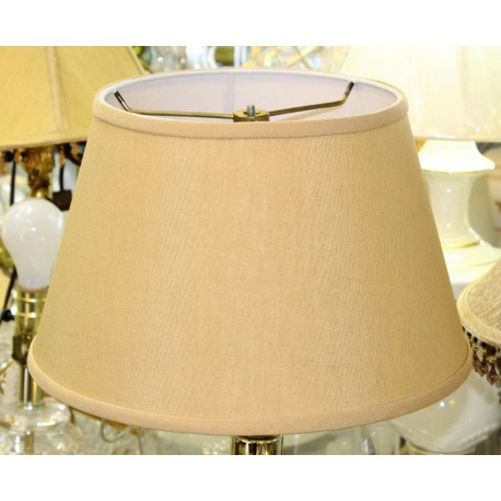 "Beige Linen Hardback Lamp Shade - 8"" x 12"" x 7 1/2"""