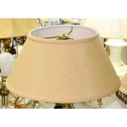 "Beige Linen Hardback Lamp Shade - 7"" x 12"" x 6"""