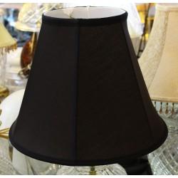 "Black Silk Soft Back Lamp Shade 7"" x 14"" x 11"""