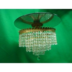 Semi Flush Mount Crystal Fixture