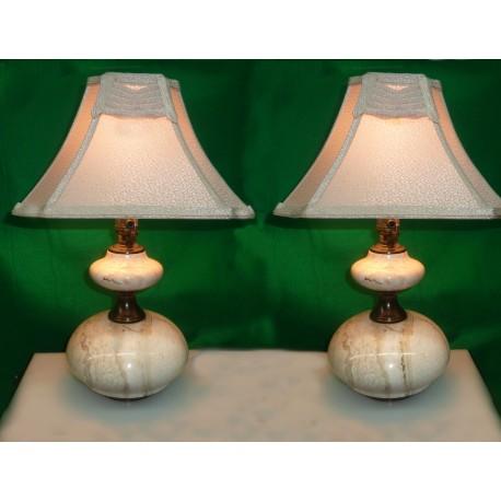 Marmol & Brass Desk Lamp pair