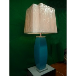 Blue Lucite Desk Lamp Pair