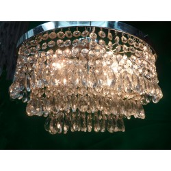 Oval Frame Crystal Chandelier