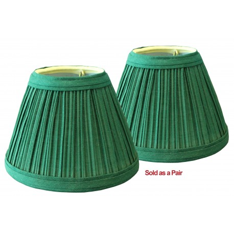"3""x6""x4 1/2"" Green Pleated Clip on Shades Sold as a Pair"