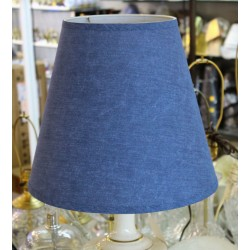 "8""x14""x12 1/2"" Blue Linen Shades - Price Per Pair"