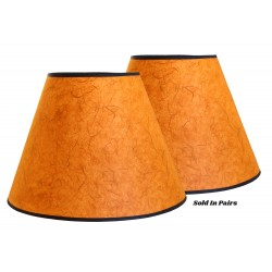 "8""x16""x12"" Orange Rice Paper Shade - Price is per Pair"