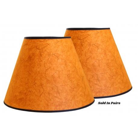 """8""""x16""""x12"""" Orange Rice Paper Shade - Price is per Pair"""