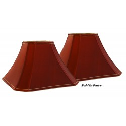 "Soft Back Red Irridescent Shades (6""x6"")x(15""x15"") x 10 1/2""- Price is per Pair"