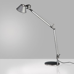 Artemide Tolomeo Aluminum Finish Classic Desk Lamp