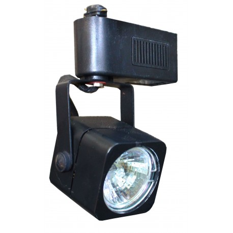 Square Track Light Head - Black - Extra Light Model ELF-414