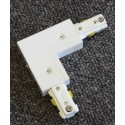 Track Lighting L Connector - White