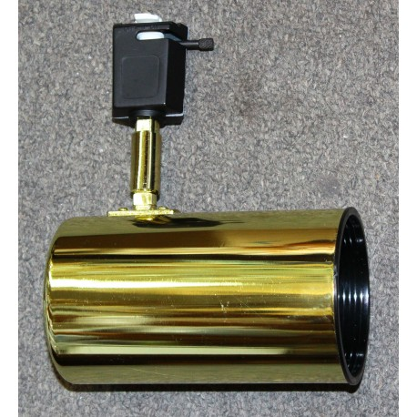 Track Light Head - Brass
