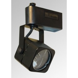 Square Track Light Head - Black - Art Electric Lights Model Art T15